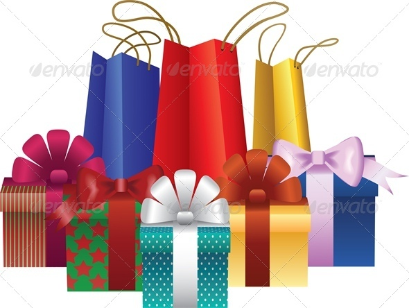 christmas gift bags clipart - photo #25
