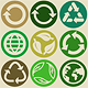 Vector Set with Recycle Signs and Pattern - GraphicRiver Item for Sale