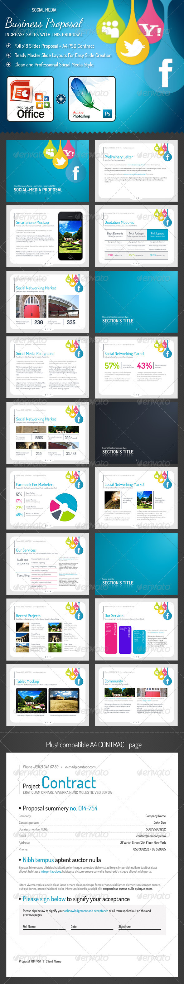GraphicRiver Social-media PowerPoint Presentation Template 3511566