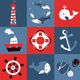 Vector Set with Nautical Design Elements - GraphicRiver Item for Sale