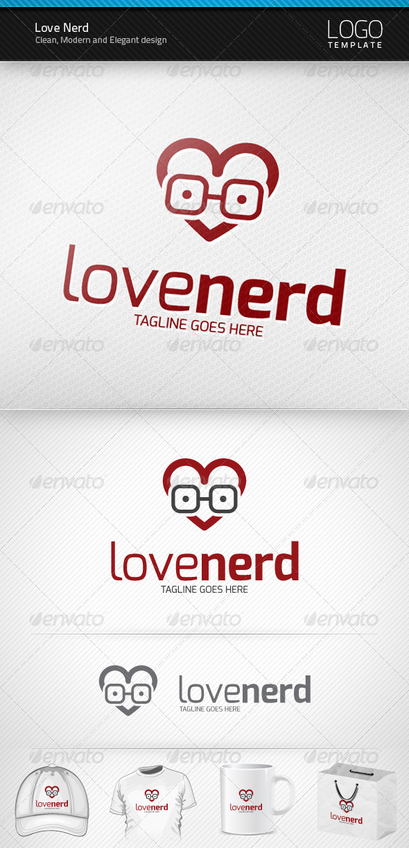 GraphicRiver Love Nerd Logo 3511786