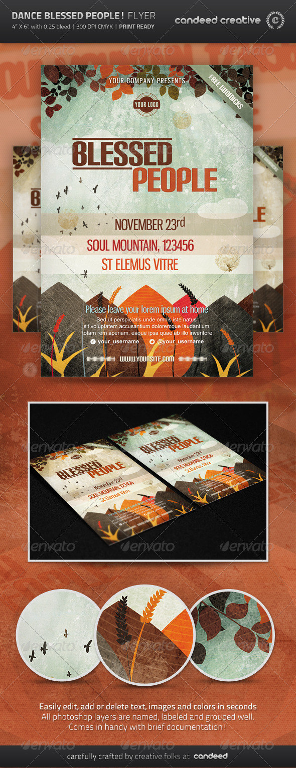 Dance Blessed People! Flyer Template - Events Flyers