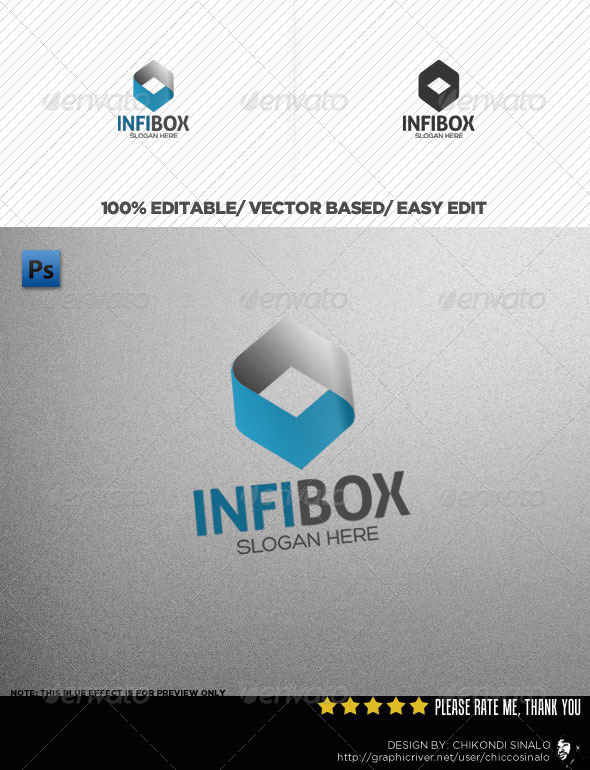 InfiBox Logo Template - 3d Abstract