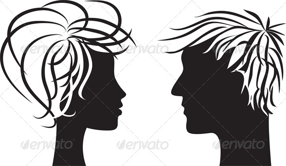 GraphicRiver Silhouette of Man and Woman 3513784
