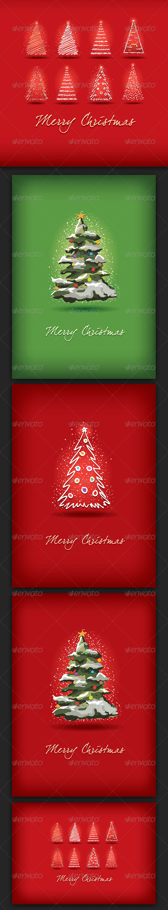 GraphicRiver Merry Christmas Greeting Card Collection 3514083