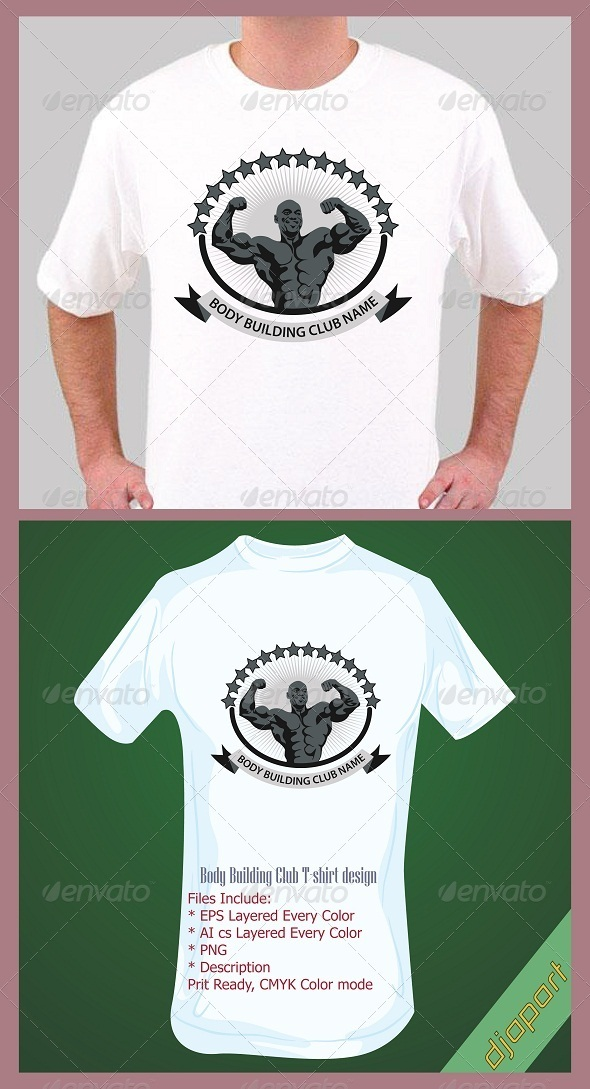 Body Building t-shirt design template - Sports & Teams T-Shirts