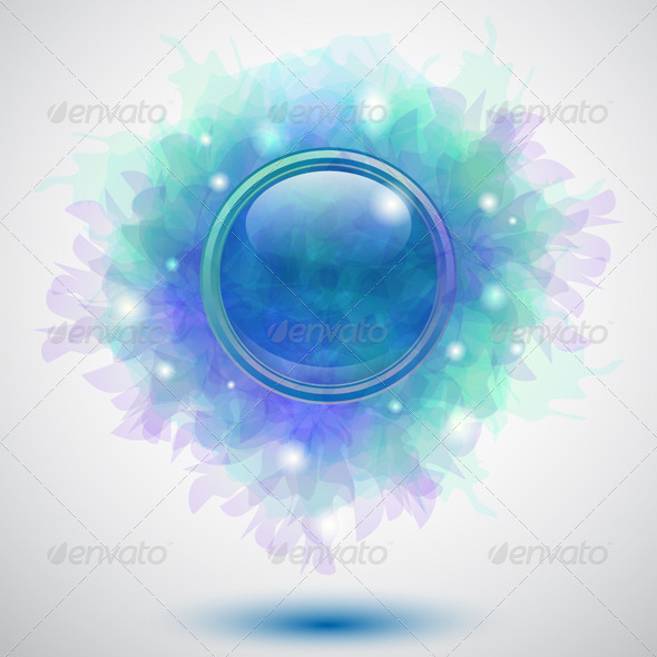 GraphicRiver Floral Button 3488990