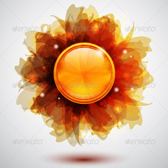 GraphicRiver Floral Button 3488971