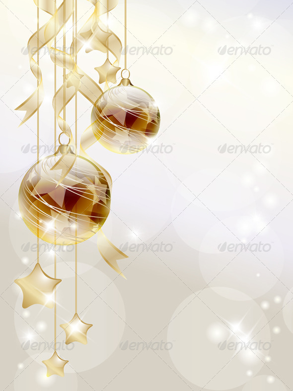 GraphicRiver Golden Baubles 3515434