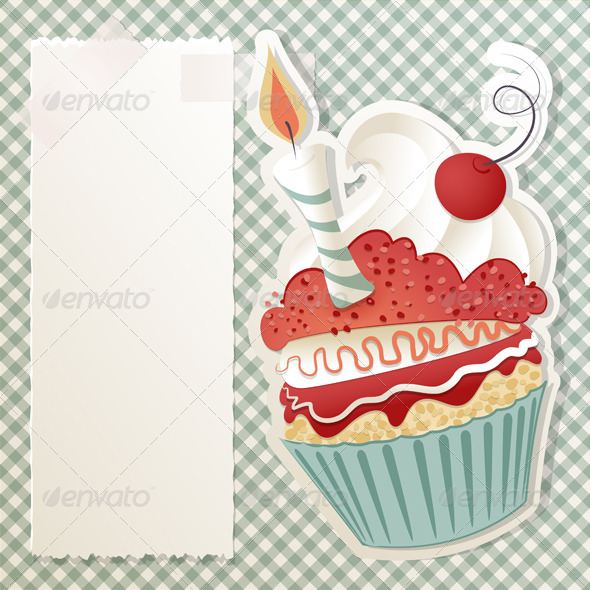GraphicRiver Birthday Cupcake 3515466
