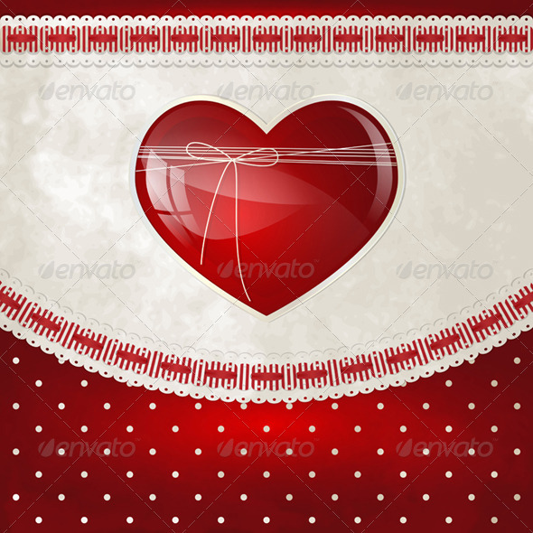 GraphicRiver Heart and Bow 3515469
