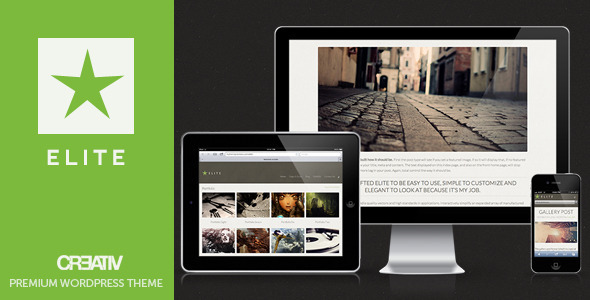Elite Premium WordPress Theme - Portfolio Creative