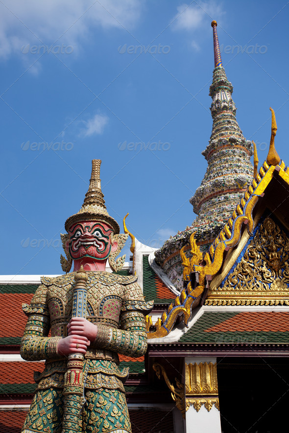 Guardian Statues at Bangkok - Stock Photo - Images