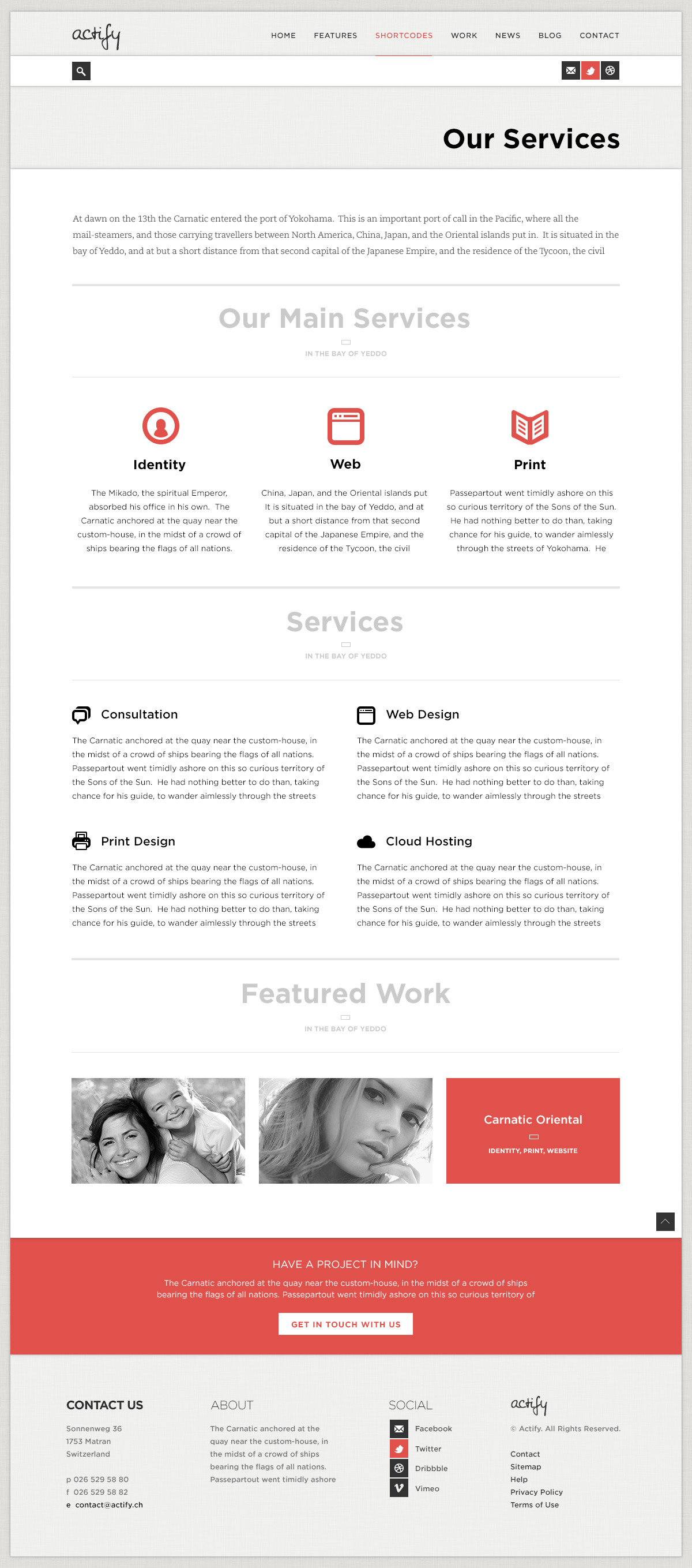 Actify - PSD Template