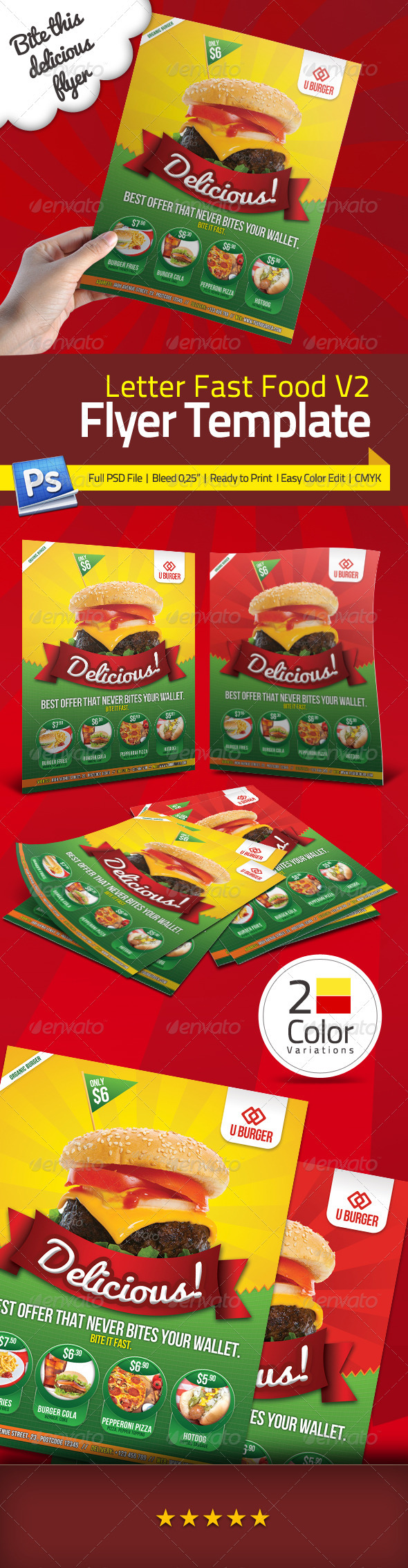 GraphicRiver Fast Food Flyer V2 3469797