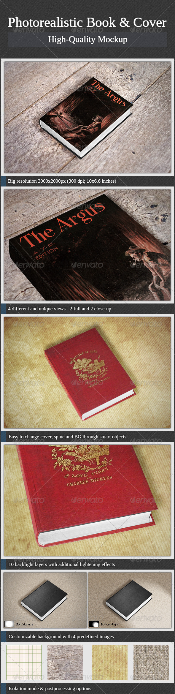 GraphicRiver Photorealistic Book and Cover 3517627