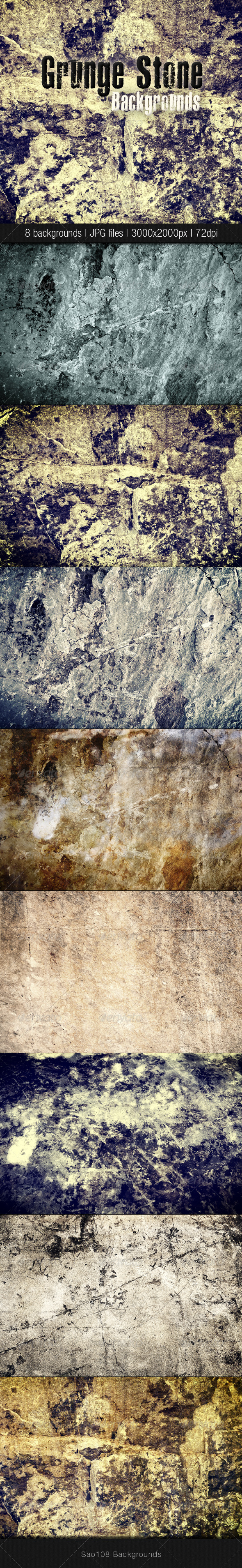 GraphicRiver Grunge stone backgrounds 3518413