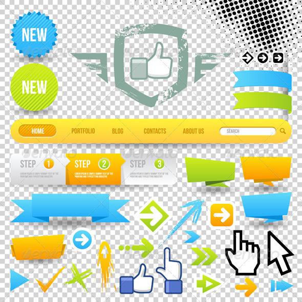 GraphicRiver Web Template Icon and Arrows 3519374