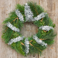 Christmas Wreath Hung On The Wall - PhotoDune Item for Sale