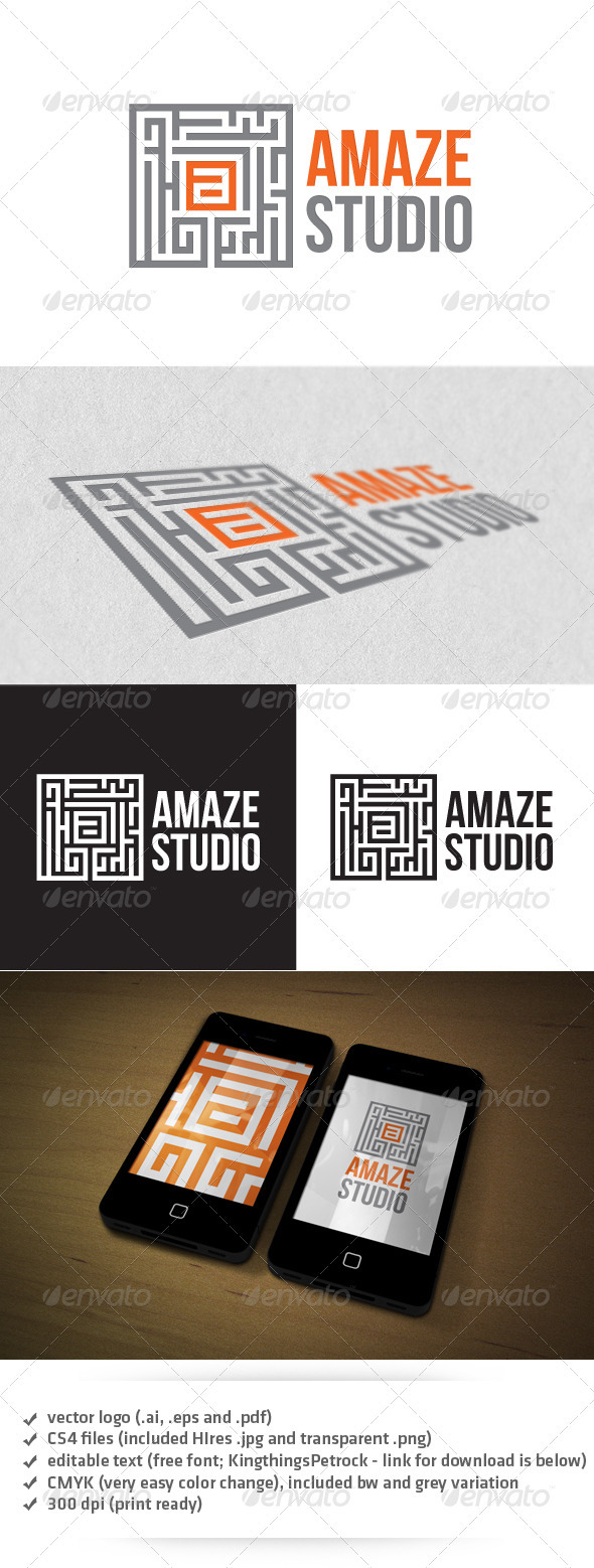 GraphicRiver Amaze Studio Logo 3519539