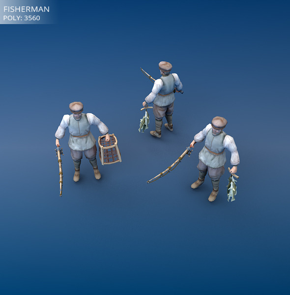 3DOcean Low Poly Fisherman 3519810
