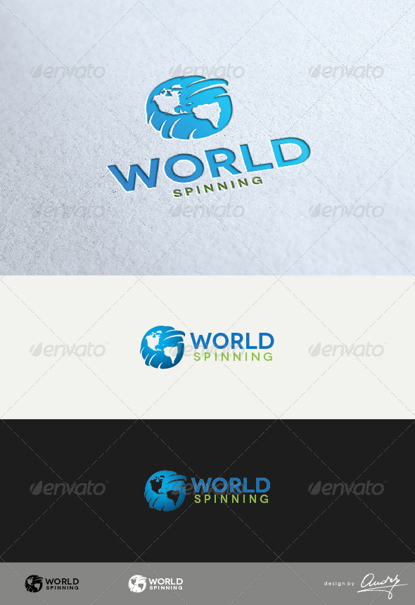 GraphicRiver World Spinning Logo Template 3418732