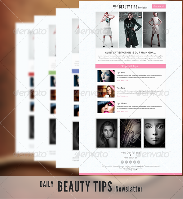 Daily Beauty Tips - E-newsletters Web Elements