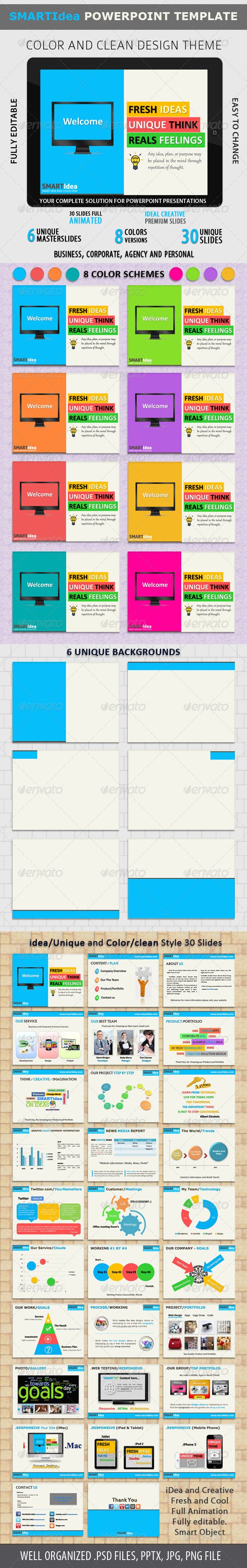 GraphicRiver SmartIDEA Powerpoint Presentation 3389855