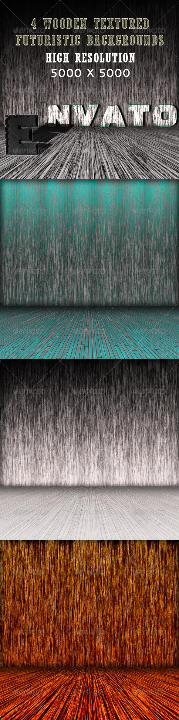 GraphicRiver Set of 4 Dark Textured Room Backgrounds 3522309