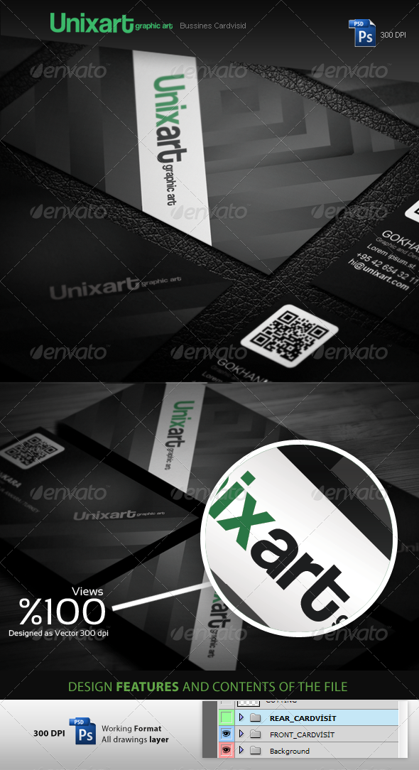 Unixart Graphic Designer Business Cards - Creative Business Cards
