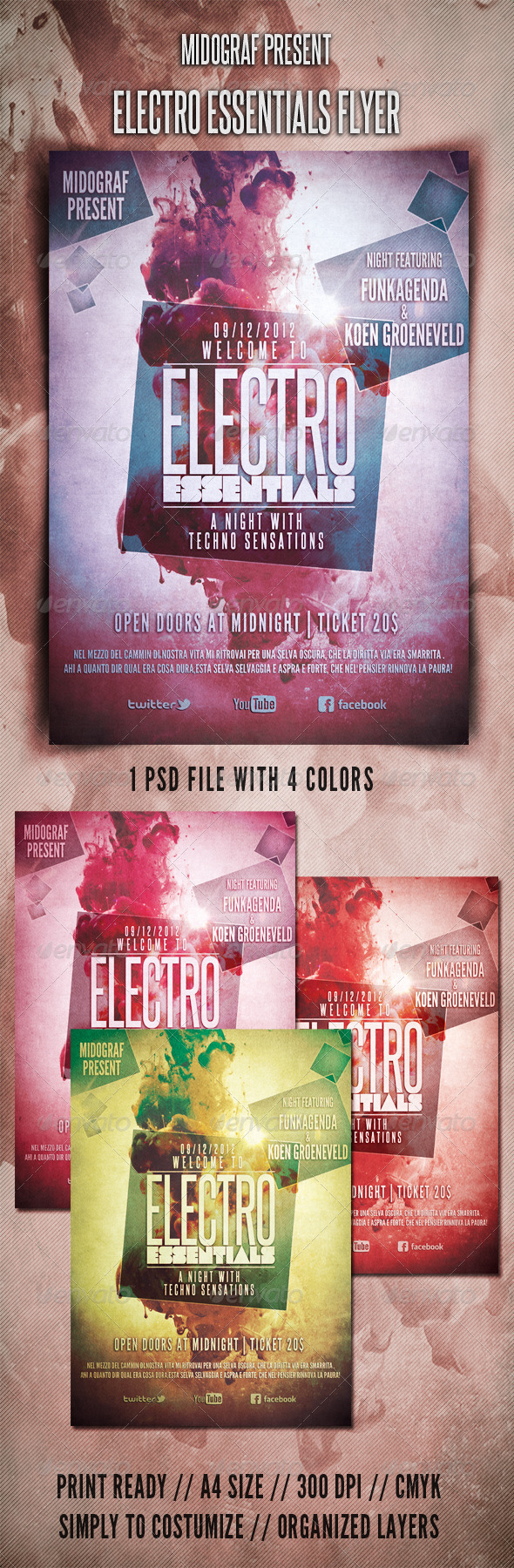 GraphicRiver Electro Essentials Flyer 3522763