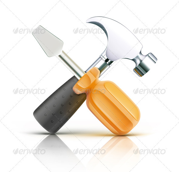 GraphicRiver Screwdriver and Hammer 3523494