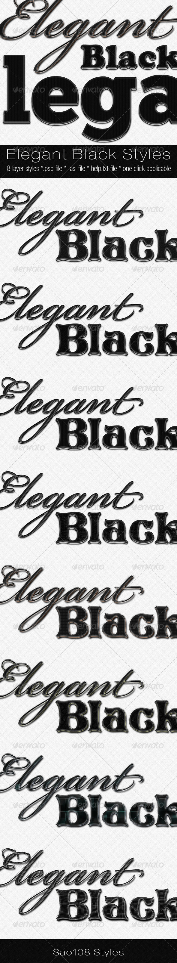 Elegant black styles - Photoshop Add-ons