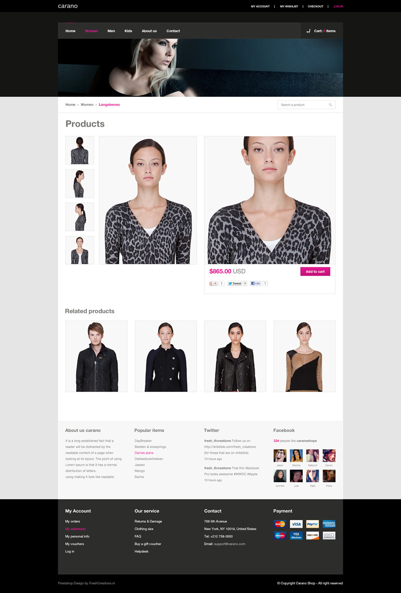 Carano - Flexible Prestashop 1.5.+ Theme