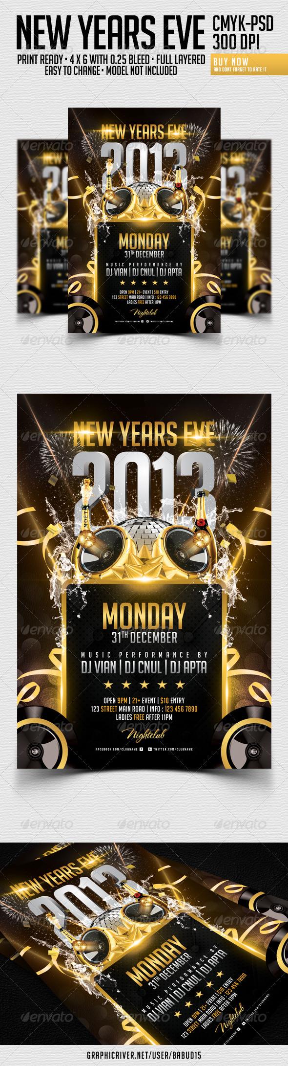 Flyer Navideño Feliz Año Nuevo