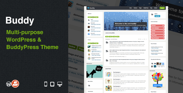 ThemeForest Buddy Multi-purpose WordPress & BuddyPress Theme 3506362