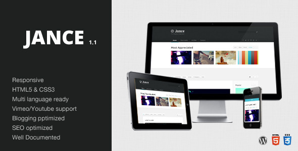 ThemeForest Jance Blogging Theme Wordpress 3119478
