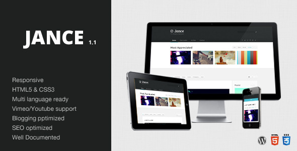 Jance - Blogging Theme - Wordpress