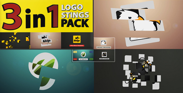 VideoHive 3 in 1 Logo Stinger Pack 3485270