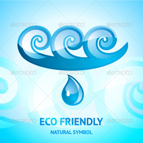 GraphicRiver Water Natural Symbol 3525255