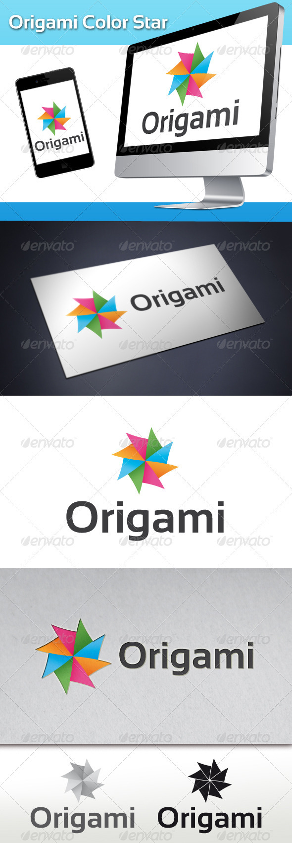 GraphicRiver Origami Color Star Logo 3507463
