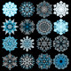 Colored Snowflakes - GraphicRiver Item for Sale