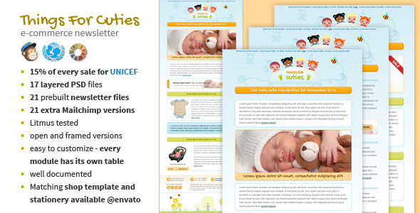 ThemeForest Things for Cuties Baby Kids Newsletter Template 3496550