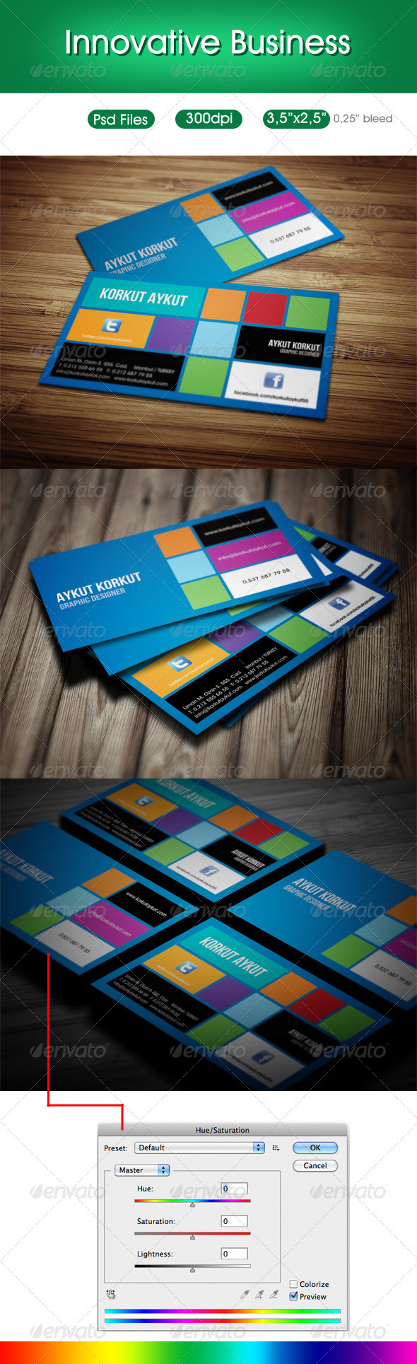 GraphicRiver Innovative Designer Business Cards 3525761