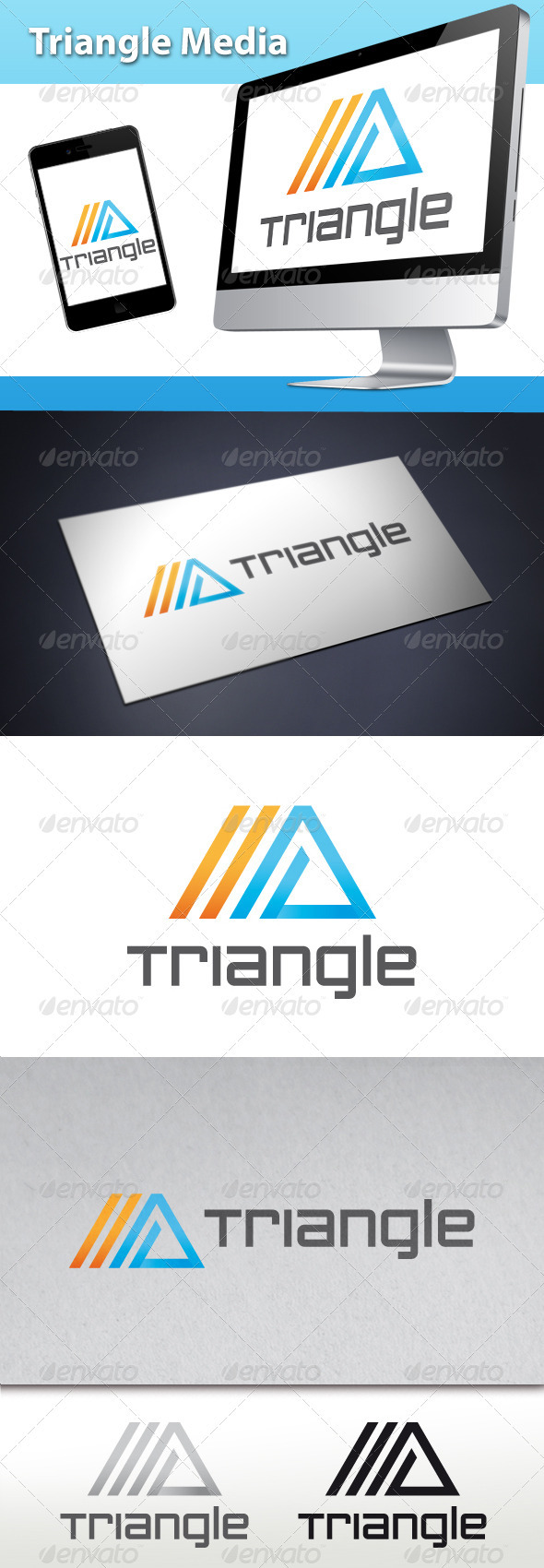 GraphicRiver Triangle Media Logo 3504789