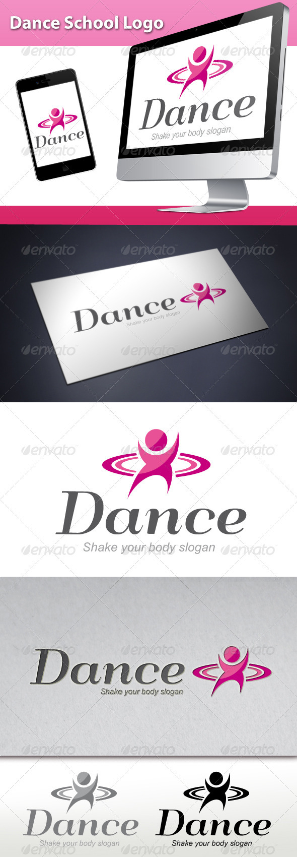 GraphicRiver Dance School Logo 3498936