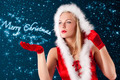 Christmas girl blowing from hand... - PhotoDune Item for Sale