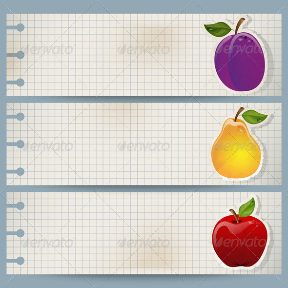 GraphicRiver Fruit Banners 3526158