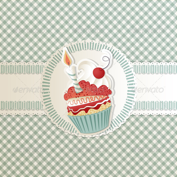 GraphicRiver Birthday Cupcake 3526714