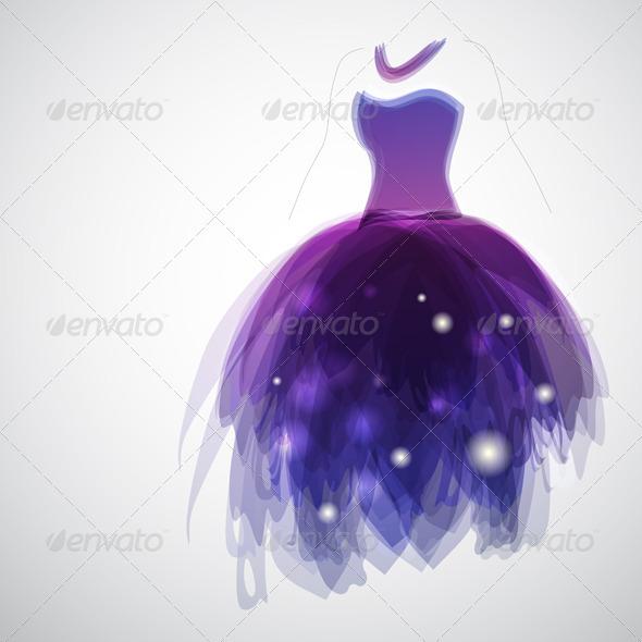 GraphicRiver Purple Dress 3526773